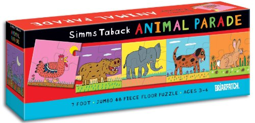 Cheap Fun Briarpatch Simms Taback Animal Parade 7′ Floor Puzzle (B001QDKWWG)