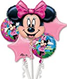Disney Minnie Mouse Balloon Birthday Party Favor Supplies 5ct Foil Balloon Bouquet
