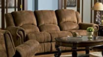 Hot Sale Brown Reclining Sofa Couch Living Family Room Recliner