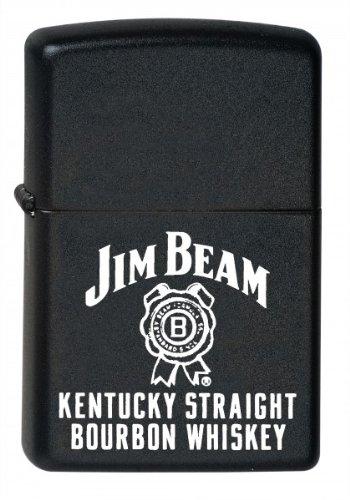 zippo-accendino-jim-beam-whisky-logo-nero-opaco-nuovo