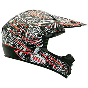 Bell Scattered Men's SX-1 Off-Road Motorcycle Helmet - White/Orange / Small
