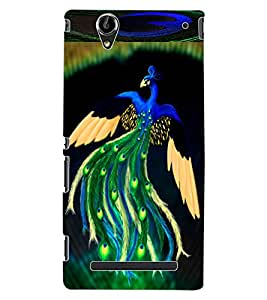 ColourCraft Lovely Peacock Design Back Case Cover for SONY XPERIA T2 ULTRA DUAL D5322