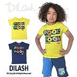(ディラッシュ) DILASH盛夏'16/カラフル「POOL」半袖Tシャツ 110 ネイビー
