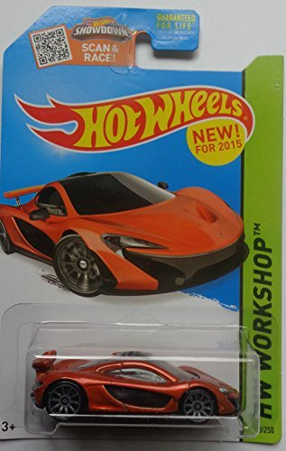 2015 Hot Wheels Hw Workshop - McLaren P1 (Dark Orange) - 1