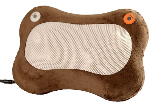 温熱マッサージ器 Heat rub ブラウン温熱治療器+マッサージ器入浴剤(Maccolico 3袋セット)付オリジナルセット MHー1127 AKI