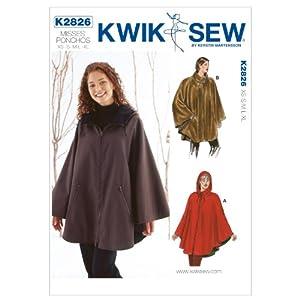 Amazon.com: Kwik Sew K2826 Ponchos Sewing Pattern, No Size