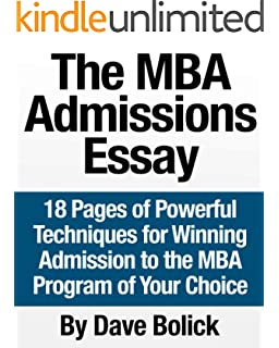MBA Essay Examples and top ranked Business School program