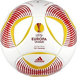 adidas Predator Europa League Top Training Soccer Ball (White/Red/Yellow, 4)