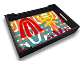Nutcase Designer Wooden Serving Trays for Kitchen Serving/Dining (13x9) inch - Graffiti Style