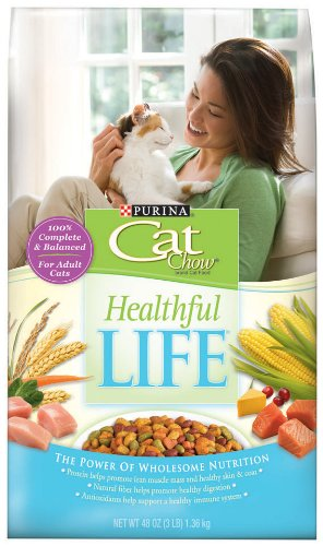 See Purina Cat Chow Healthful Life, 3 Pound Bags (Pack of 3)