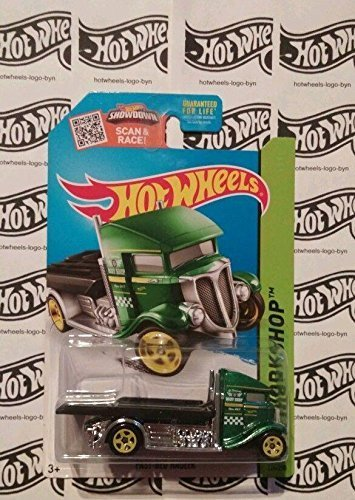 Hot Wheels, 2015 HW Workshop, Fast-Bed Hauler [Green] Die-Cast Vehicle, #224/250