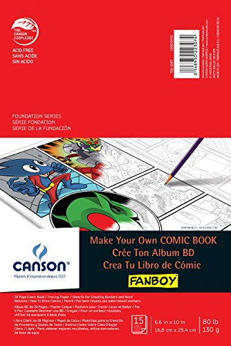 Canson Fanboy Make Your Own Comic Book (6.6in x 10in) - 1