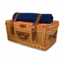 NFL Carolina Panthers Windsor Picnic Basket with Service for Four by Picnic Time