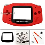 Gametown Full Housing Shell Cover Case Pack for Nintendo Gameboy Advance GBA Repair Part Color Red