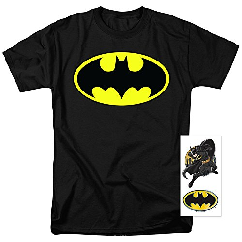 Batman-Classic-Logo-T-Shirt-and-Exclusive-Stickers