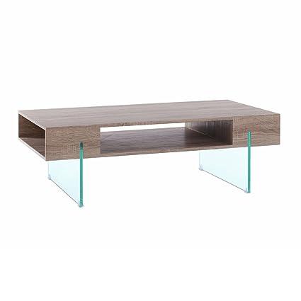Mesa de centro nórdica marrón de madera para salón Fantasy