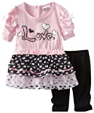 Little Lass Baby-Girls Infant 2 Piece Chiffon Legging Set