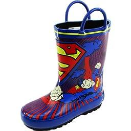 Warner Bros Superman SUS500 Rain Boot (Toddler/Little Kid),Blue,7 M US Toddler
