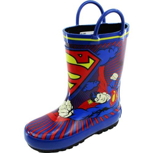 Warner Bros Superman Sus500 Rain Boot (Toddler/Little Kid),Blue,7 M Us Toddler front-857476