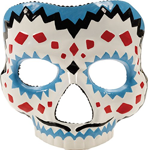 Morris Costumes Men's DAY OF THE DEAD MALE MASK