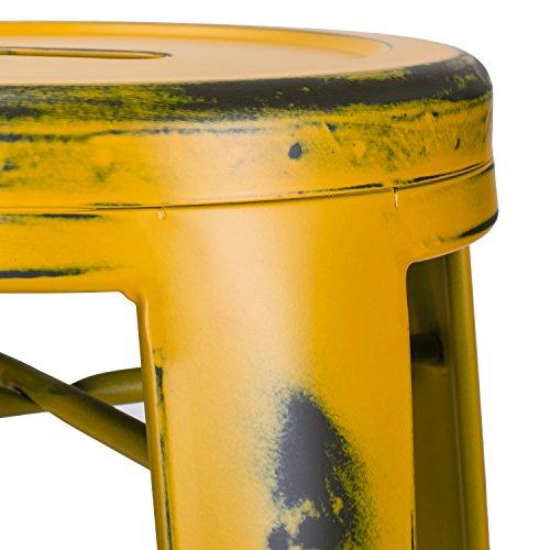 Joveco 30-inch Vintage Inspired Metal Bar Stools, Set of 2 2