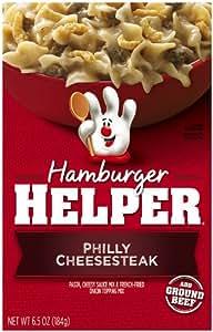 Betty Crocker Hamburger Helper Philly Cheesesteak, 6.5-Ounce Boxes (Pack of 12)