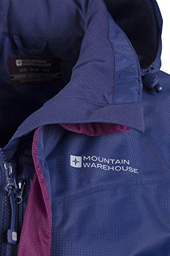 Mountain Warehouse Lange wasserfeste Guelder Damen lange jacke mantel Winterjacke mantel mit Kapuze warm outdoor Marineblau DE 42 (EU 44) -