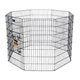 Aspen Pet Exercise Pen with Door for Pets, 24 by 24-Inch, 8-Panel