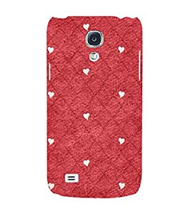 Red Color Diamond Pattern 3D Hard Polycarbonate Designer Back Case Cover for Samsung Galaxy S4 Mini i9190
