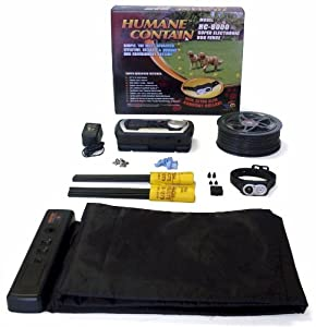 High Tech Pet Humane Contain HC-8000 Electronic Dog Fence Ultra System and RM-1 Radio Mat Pet Deterrent Kit Combo