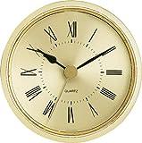 "2-1/2"" Gold Roman Clock Insert"
