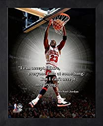 Michael Jordan Framed ProQuote - I can accept failure, everyone fails Photo by Photo File