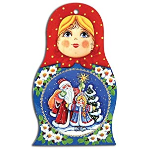 'Nesting Doll Happy New Year!' Decorative Cutting Board