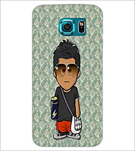 PrintDhaba Cartoon D-3224 Back Case Cover for SAMSUNG GALAXY S6 (Multi-Coloured)