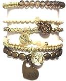 CAT HAMMILL ( キャットハミル ) オーストラリア の ナチュラル 4ever メッセージ チャーム ブレスレットセット 2 forever star bronze bracelet set ブレスレット ハート ゴールド ポーチ ゲット 海外 ブランド