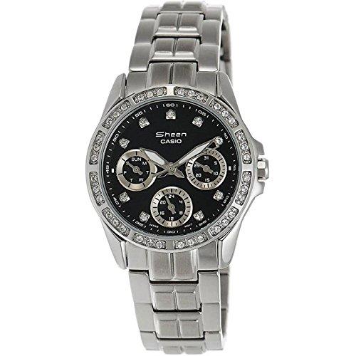 CASIO Collection SHN-3013D-1AEF - Reloj de mujer de cuarzo, correa de acero inoxidable color plata