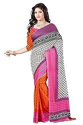 Pruthu Printed Fashionable Crepe Saree
