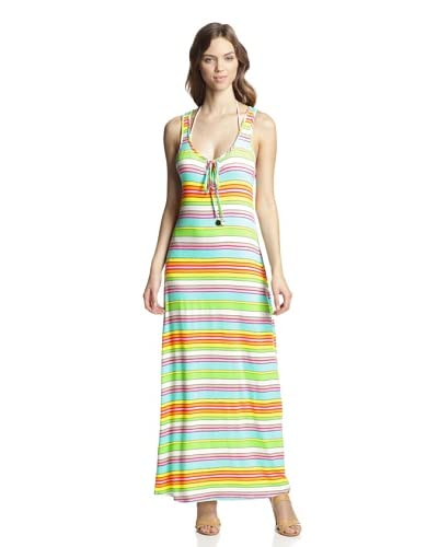 Trina Turk Women's Tennis Anyone Striped Maxi Dress  [Multi]