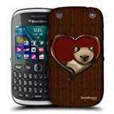 Head Case Cat In A Heart Wood Craft Back Case Cover For Blackberry Curve 9320