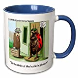 Londons Times Funny Bugs and Slugs Cartoons - The Ladybug And The Chauanist - Mugs