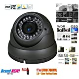 "BW® 700TVL 1/3"" Sony CCD 2.0 Mega Varifocal Zoom CCTV Surveillance Camera with OSD Menu Night Vision Infrared to 180 Feet"