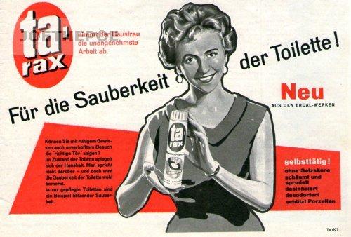 1960-inserat-anzeige-tarax-fur-die-sauberkeit-der-toilette-format-140x230-mm-alte-werbung-originalwe