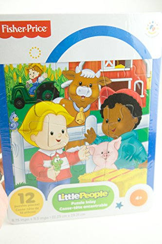 Fisher Price Little People Puzzle Featuring Kids on the Farm (12 Pieces) - 1