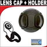 Professional Snap On Lens Cap + Deluxe Lens Cap Keeper For The Nikon 1 J3, 1 S1 Digital Camera Which Have Any Of These (10-100mm) Nikon 1 Lenses