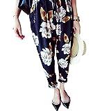 【予約販売中】(グローウィン)growin 花柄 フラワー パンツ レディース シフォン クロップドパンツ ロールアップ ボトムス サルエルパンツ