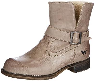 Mustang Booty 1139-601-318, Damen Stiefel, Beige (taupe 318), EU 42