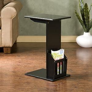 Amazon Com Magazine Snack Table For Sofa Side Black