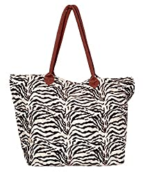 Indistar Women's Vintage Handmade Ethnic Canvas Printed Tote Bag