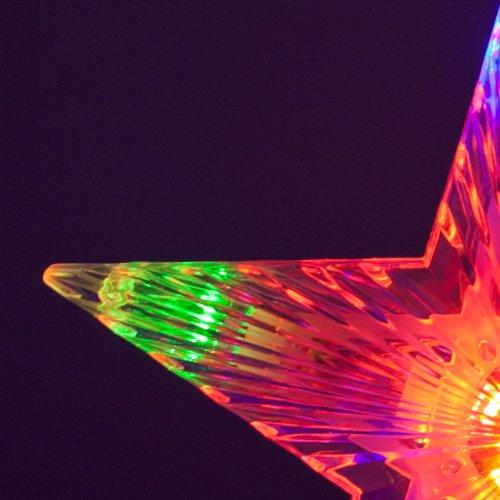 Puntale led a batteria 21 cm 10 led multicolor con giochi di luce decorazioni per l 39 albero di - Led baumspitze stern ...