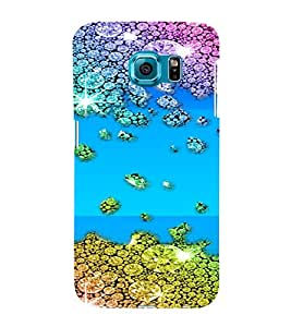 PrintVisa Gems & Diamonds Pattern 3D Hard Polycarbonate Designer Back Case Cover for Samsung Galaxy S6